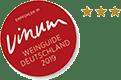 empfohlen von Vinum Weinguide Deutschland 2019